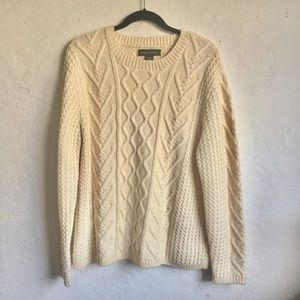 Banana Republic Heavy Wool Cable Knit Sweater M